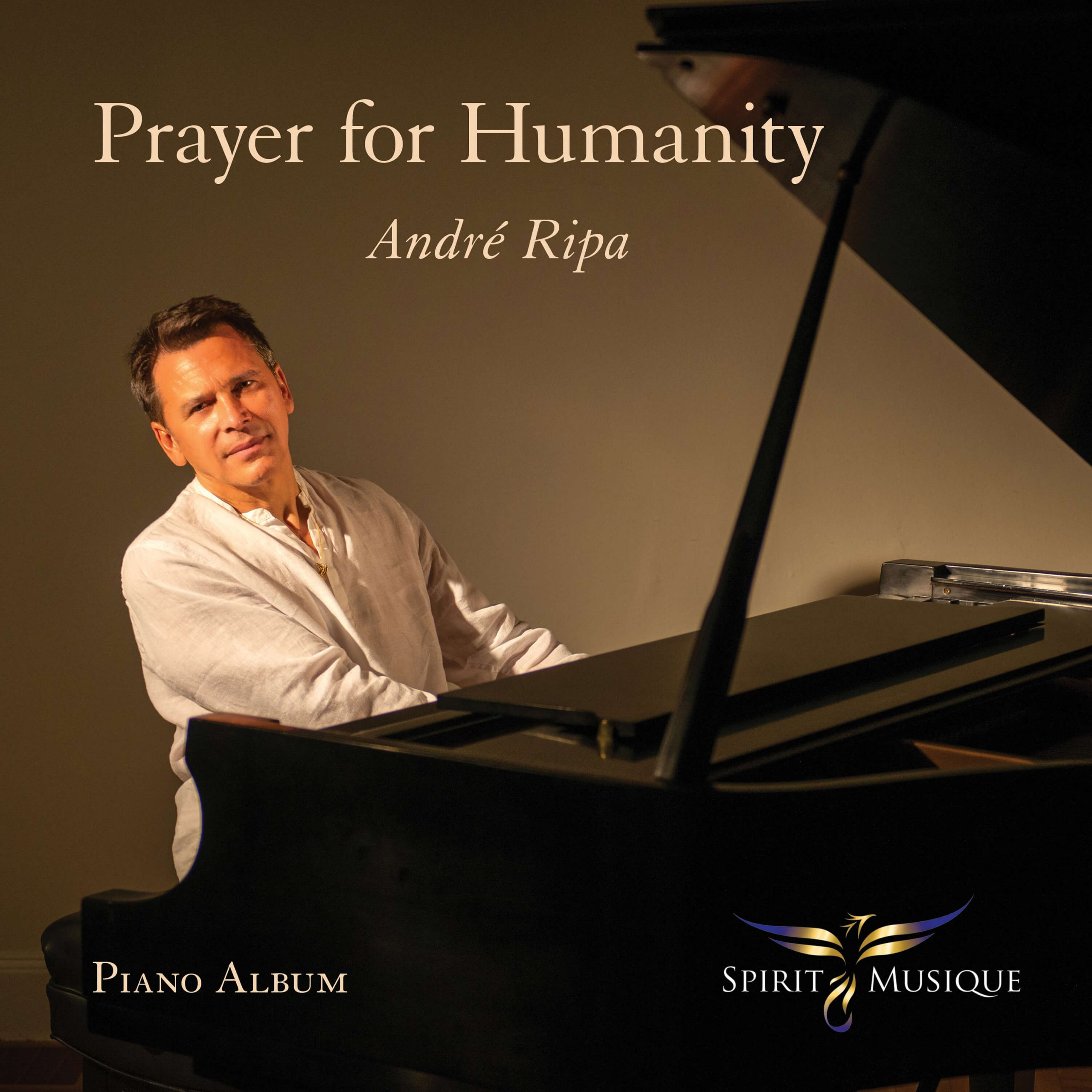 Prayer For Humanity Andrew Ripa man sitting in front of piano